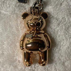 Coach Rose Gold Bear Key Chain.